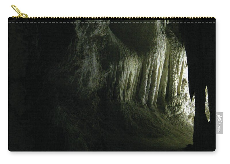 Cave Carry-all Pouch featuring the photograph Doorway To Wonderland by Alycia Christine