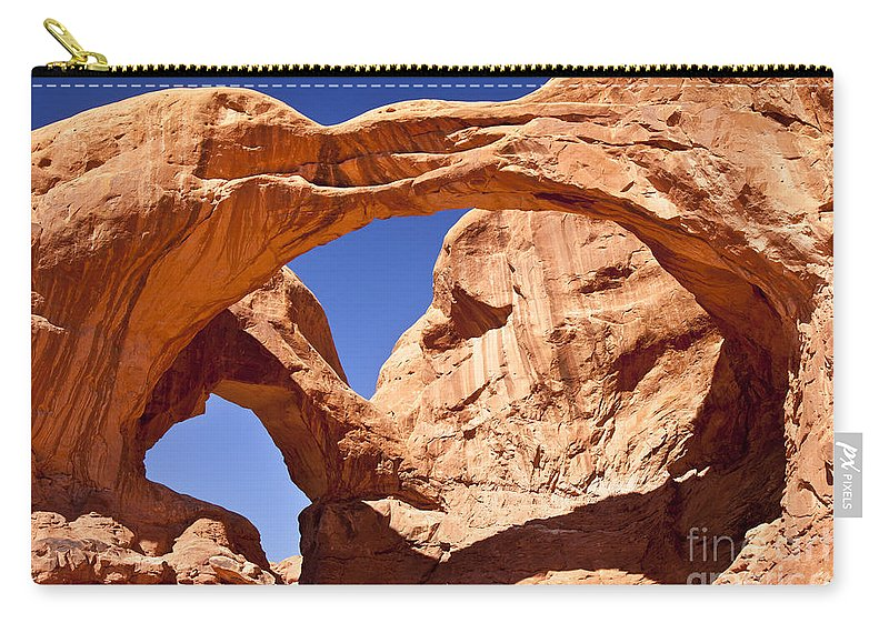 America Carry-all Pouch featuring the photograph Double Arch by Brian Jannsen