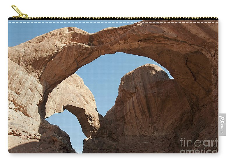 Arches Carry-all Pouch featuring the photograph Double Arches by David Arment