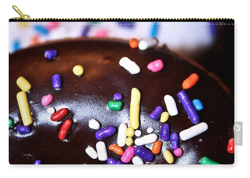 Edible Carry-all Pouch featuring the photograph Double Doughnuts by Susan Herber