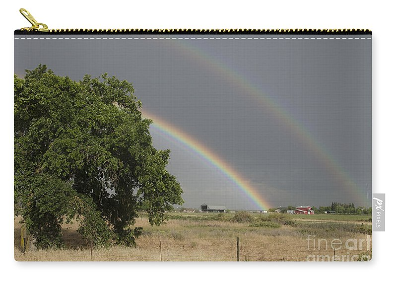 Rainbow Carry-all Pouch featuring the photograph Double Rainbow by Jim And Emily Bush
