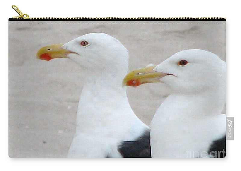 Gull Carry-all Pouch featuring the photograph Double Trouble by Art Dingo