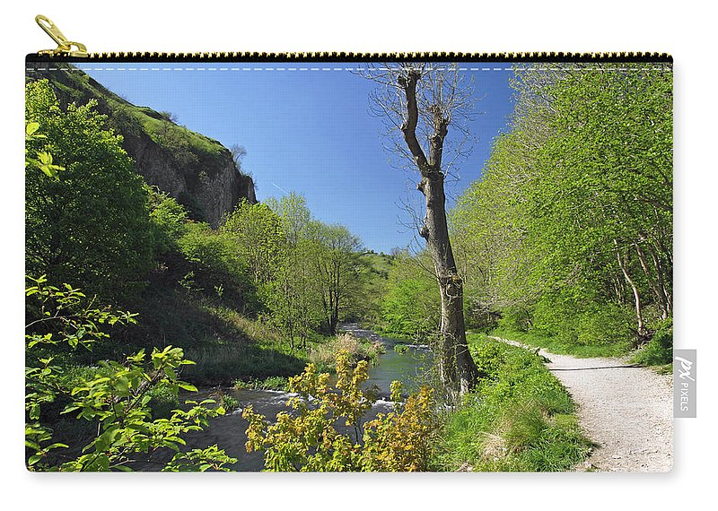 Britain Carry-all Pouch featuring the photograph Dove Valley - Beside The River by Rod Johnson