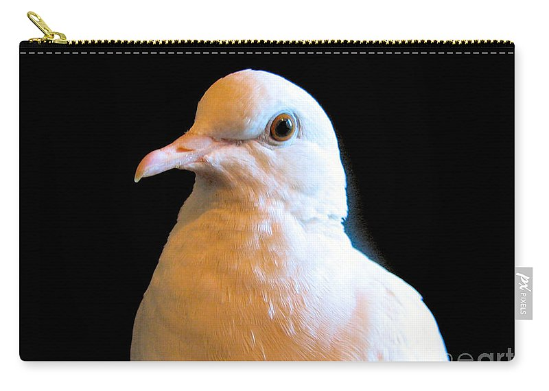 White Carry-all Pouch featuring the photograph Dovey by Art Dingo