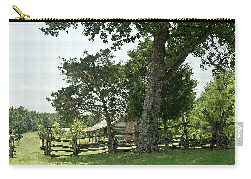 Carry-all Pouch featuring the photograph Down The Lane To The Cabin 3 by Douglas Barnett