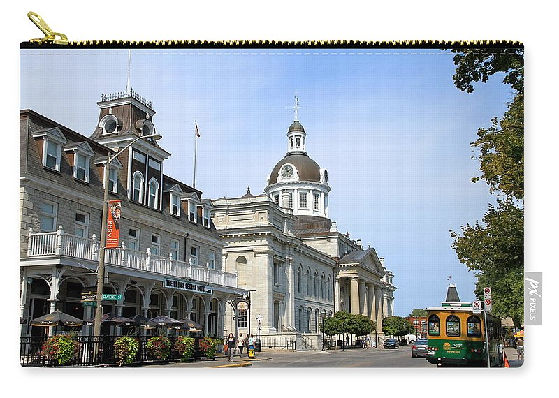 Canada Carry-all Pouch featuring the photograph Downtown Kingston by Valentino Visentini