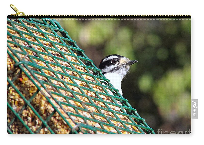 Woodpecker Carry-all Pouch featuring the photograph Downy by Art Dingo