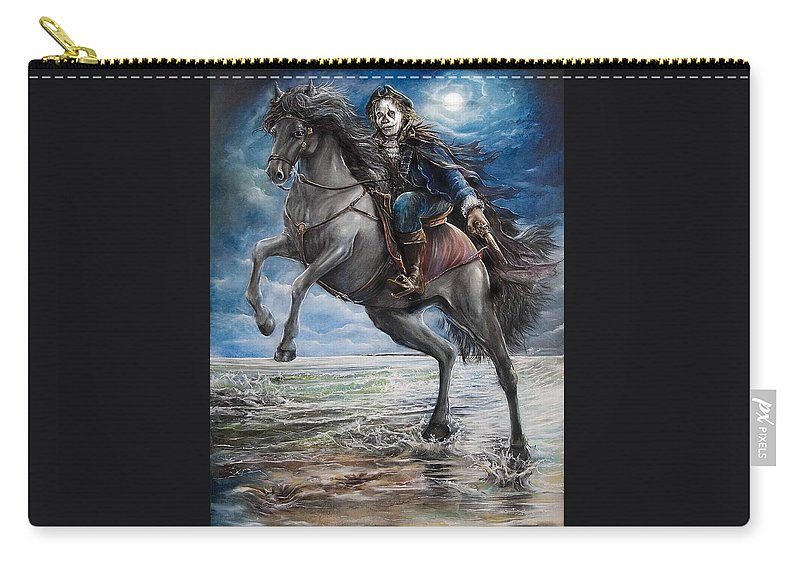 Fantasy Carry-all Pouch featuring the painting Dr Syn by Penny Golledge