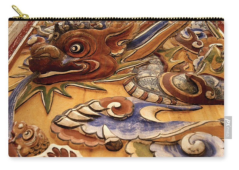 Asia Carry-all Pouch featuring the photograph Dragon Art by Shaun Higson