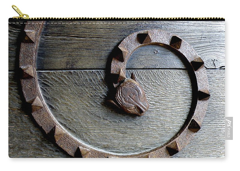 Dragon Carry-all Pouch featuring the photograph Dragon Iron Work by Lainie Wrightson