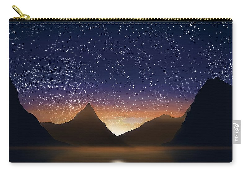 Abstract Carry-all Pouch featuring the photograph Dramatic Landscape by Setsiri Silapasuwanchai