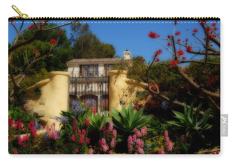 Malibu Carry-all Pouch featuring the photograph Dream Cottage In Malibu by Lynn Bauer