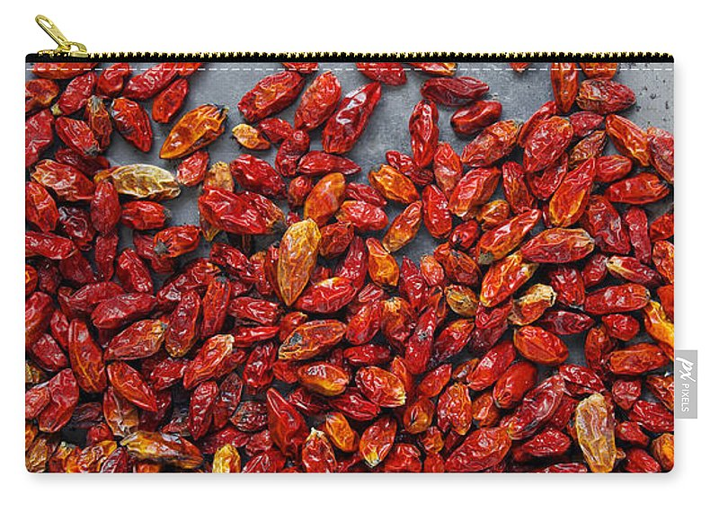 Asian Carry-all Pouch featuring the photograph Dried Chili Peppers by Carlos Caetano