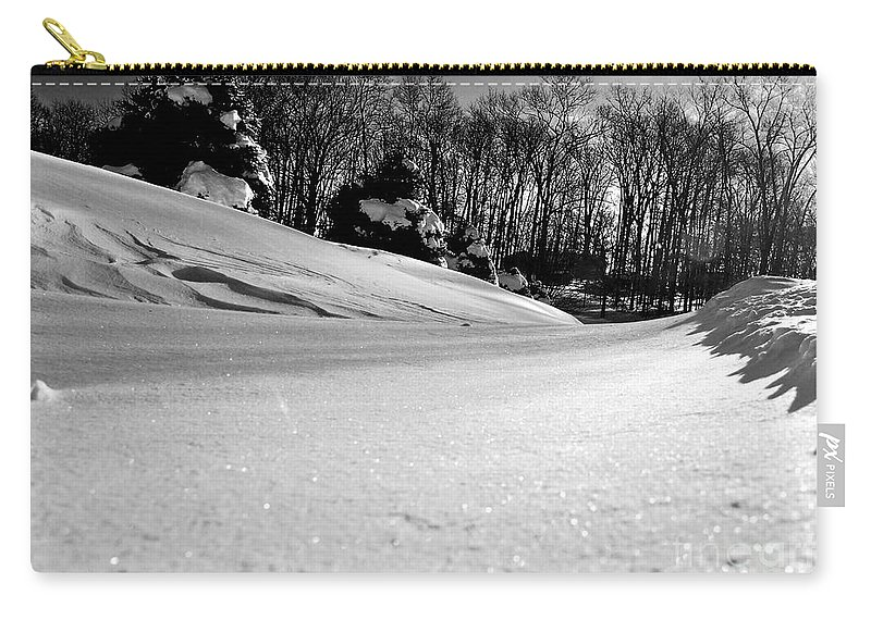 Snow Carry-all Pouch featuring the photograph Drift Sparkle by Mark Dodd