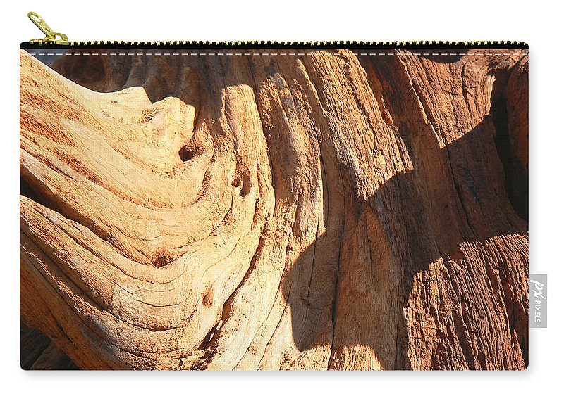 Tn Carry-all Pouch featuring the photograph Driftwood 1 by Ericamaxine Price