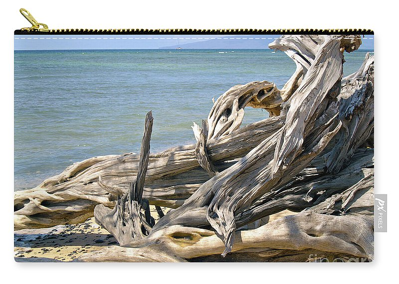 Driftwood Photography Carry-all Pouch featuring the photograph Driftwood II by Patricia Griffin Brett