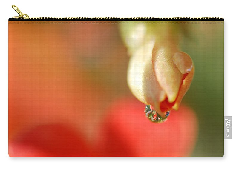 Waterdrop Carry-all Pouch featuring the photograph Dripping In Colors by Susan Capuano