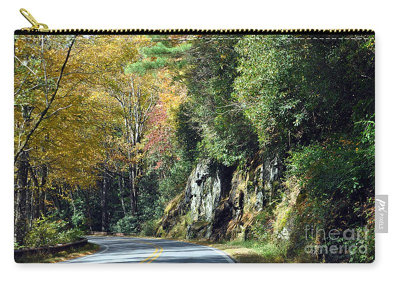 Mountains Carry-all Pouch featuring the photograph Drive In The Mountains by Lydia Holly