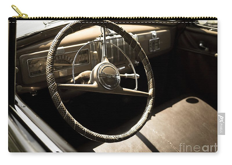Steering Carry-all Pouch featuring the photograph Driver's Seat by Edward Fielding