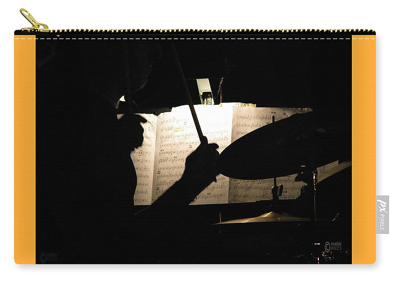 Big Band Carry-all Pouch featuring the photograph Drummer At A Gig by Maurice Beebe