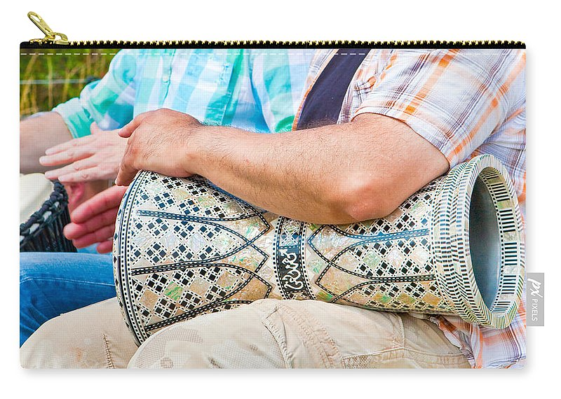 Arab Carry-all Pouch featuring the photograph Drummer by Tom Gowanlock