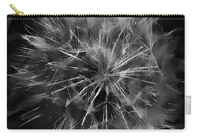 Dandelion Carry-all Pouch featuring the photograph Drunk Dandelion by The Artist Project