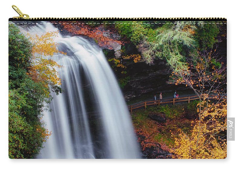 Water Carry-all Pouch featuring the photograph Dry Falls Or Upper Cullasaja Falls by Lynne Jenkins