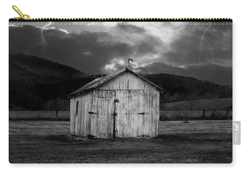 Shed Carry-all Pouch featuring the photograph Dry Storm by Ron Jones