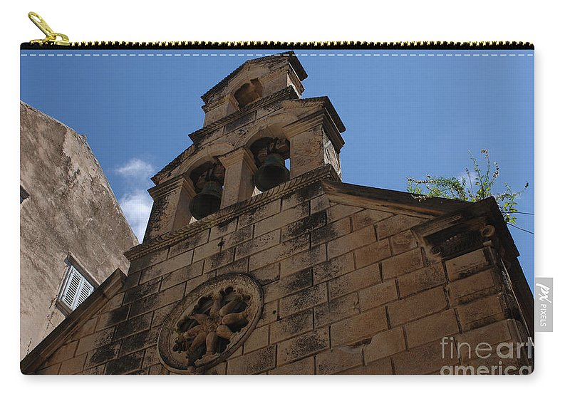 Dubrovnik Carry-all Pouch featuring the photograph Dubrovnik Church by Bob Christopher
