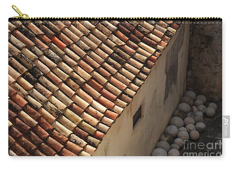 Dubrovnik Carry-all Pouch featuring the photograph Dubrovnik Rooftop by Bob Christopher
