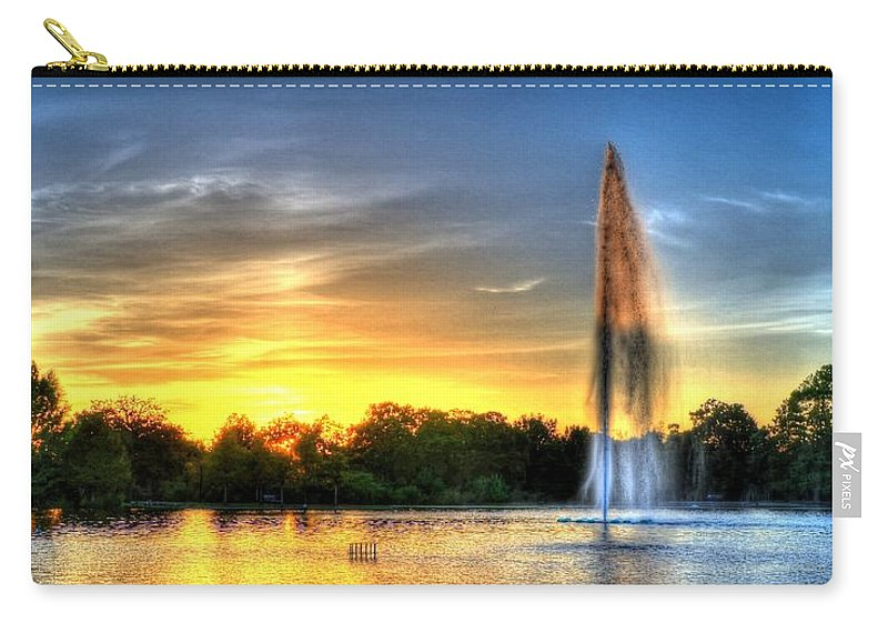 Girl Carry-all Pouch featuring the photograph Duckling Dinner Time by David Morefield