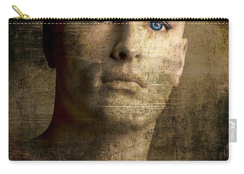 Blue Eyes Carry-all Pouch featuring the photograph Dummy by Bernard Jaubert