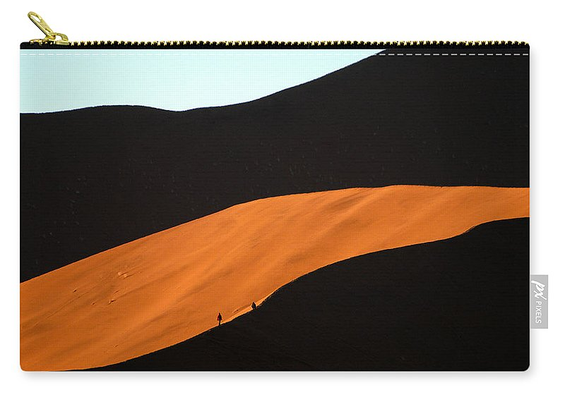 Africa Carry-all Pouch featuring the photograph Dune Tunnel by Alistair Lyne