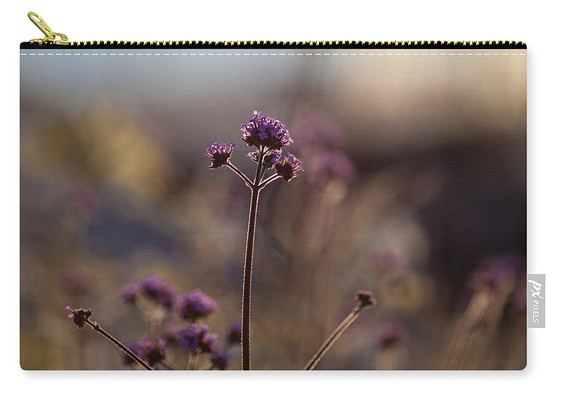 Flower Carry-all Pouch featuring the photograph Dusk Edges by Mike Reid