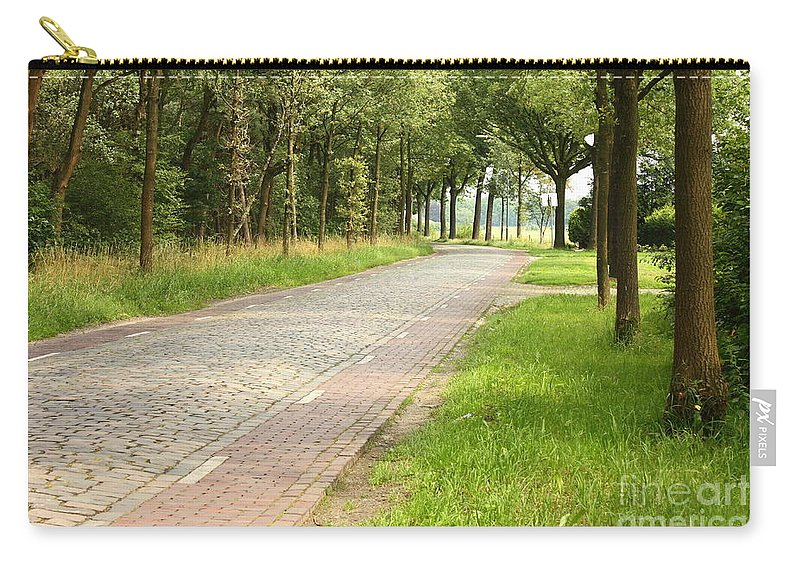 Cobblestone Road Carry-all Pouch featuring the photograph Dutch Road 2 by Carol Groenen