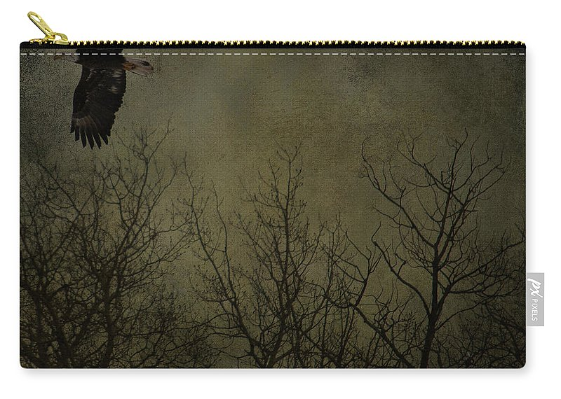 Jerry Cordeiro Framed Prints Framed Prints Photographs Photographs Photographs Carry-all Pouch featuring the photograph Eagle In The Mist by The Artist Project