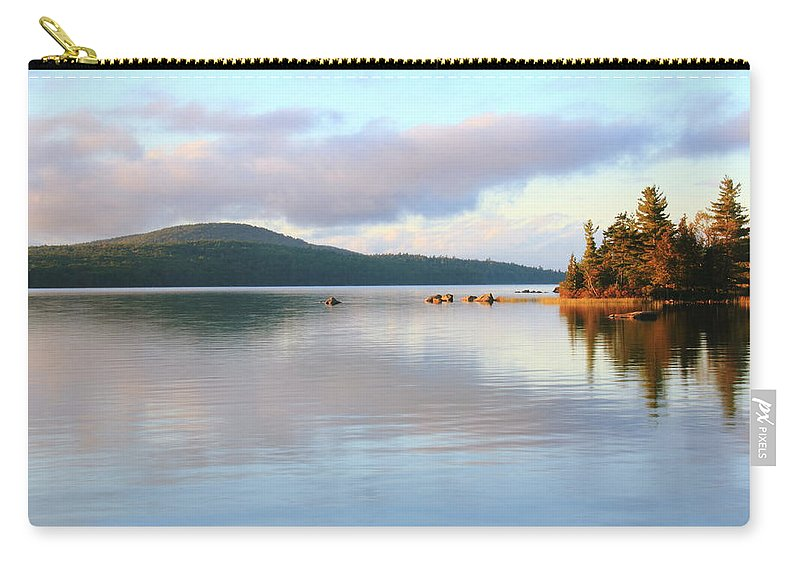 Eagle Lake Carry-all Pouch featuring the photograph Eagle Lake by Roupen Baker