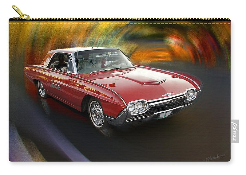 Special Effect Carry-all Pouch featuring the photograph Early 60s Red Thunderbird by Mick Anderson