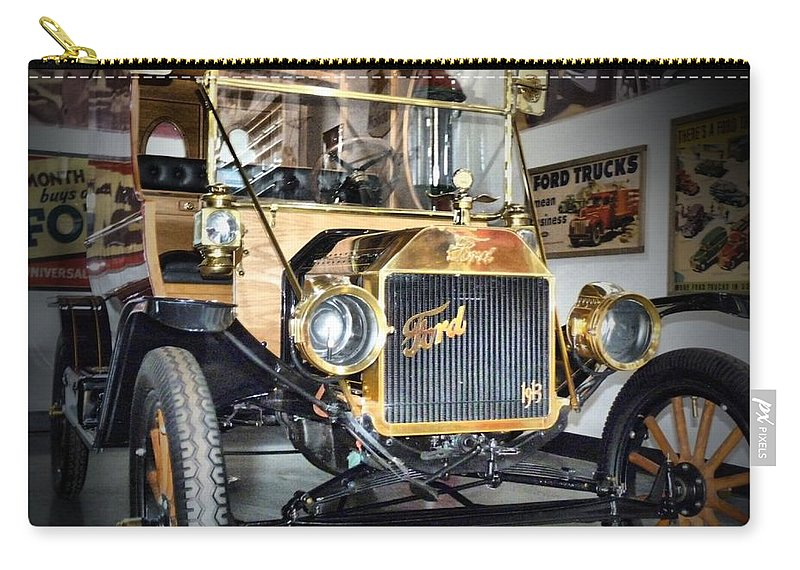 Automoble Carry-all Pouch featuring the photograph Early Ford by Anthony Walker Sr