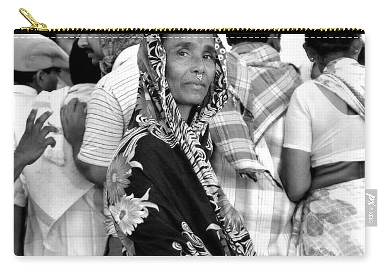 Black And White Photography Carry-all Pouch featuring the photograph Early Morning Along The Coast by Valerie Rosen