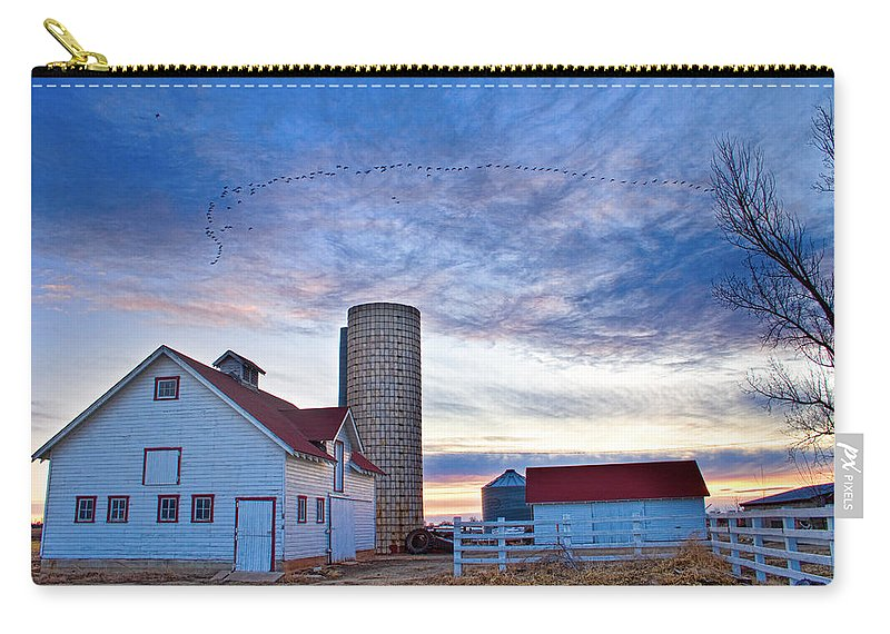Barns Carry-all Pouch featuring the photograph Early Morning On The Farm by James BO Insogna