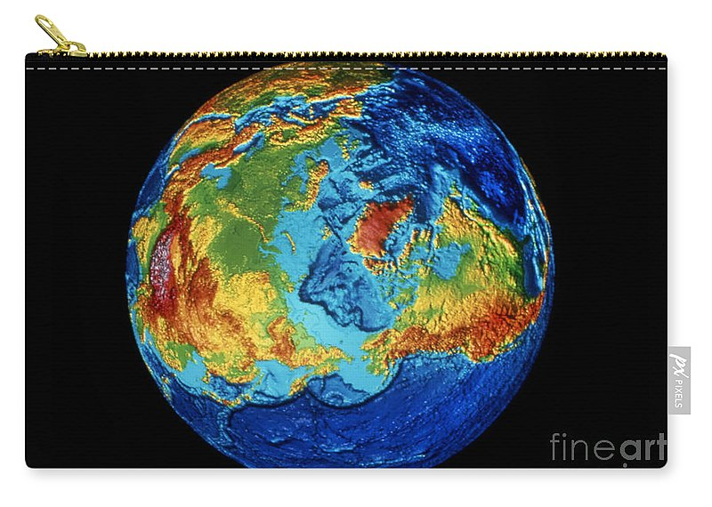 1991 Carry-all Pouch featuring the photograph Earth: Topography by Granger