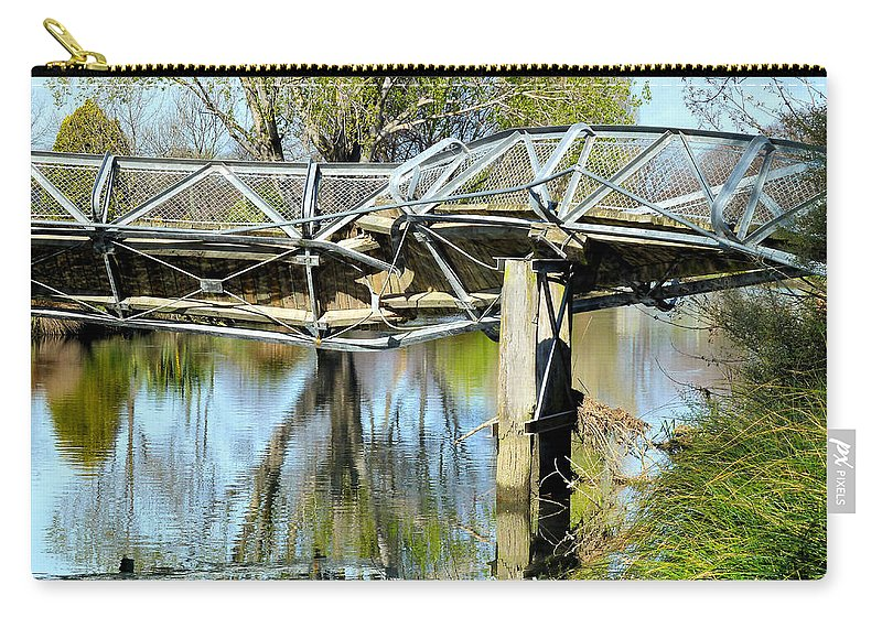 Earthquake Carry-all Pouch featuring the photograph Earthquake Contortions by Steve Taylor