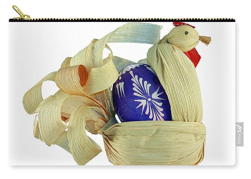 Easter Carry-all Pouch featuring the photograph Easter Pullet by Michal Boubin