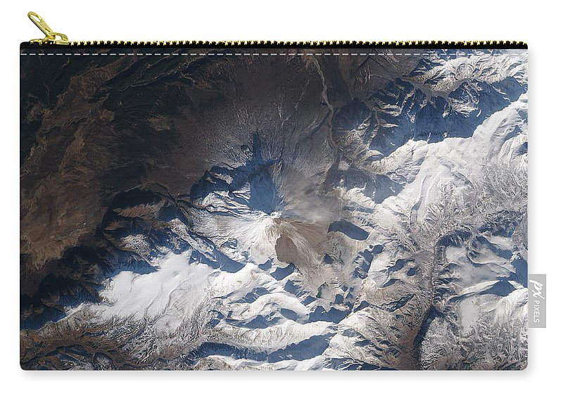 Russia Carry-all Pouch featuring the photograph Eastern Russias Kizimen Volcano by Stocktrek Images