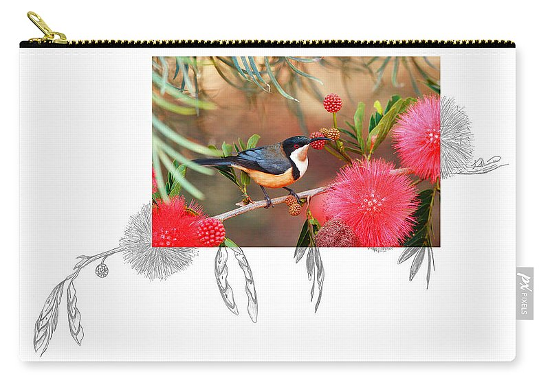 Eastern Spinebill Carry-all Pouch featuring the photograph Eastern Spinebill by Andrew McInnes