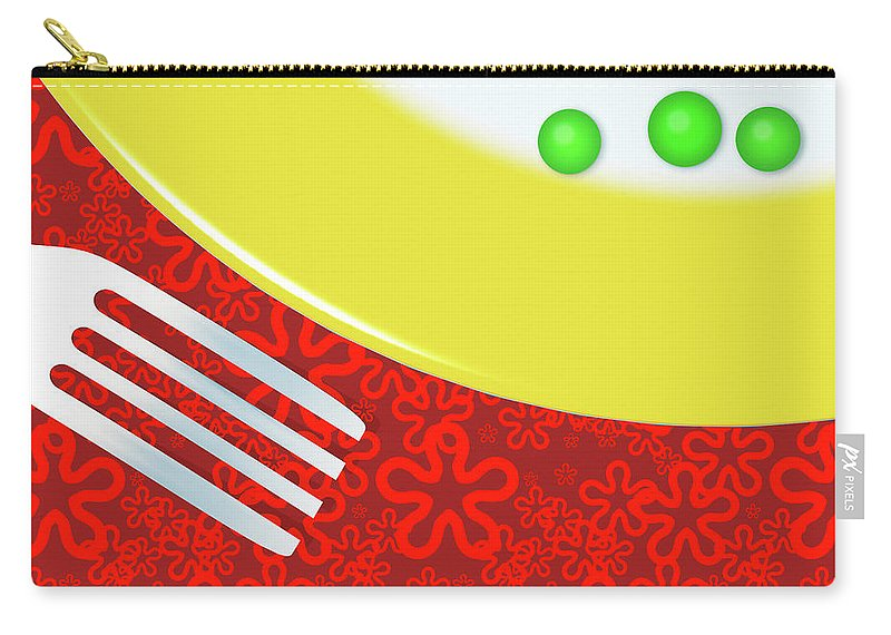 Minimalism Carry-all Pouch featuring the digital art Eat Your Peas by Richard Rizzo