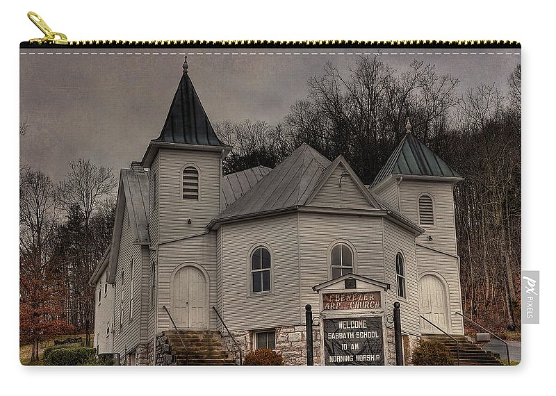 Ebenezer Arp Church Carry-all Pouch featuring the photograph Ebenezer Arp Church by Todd Hostetter