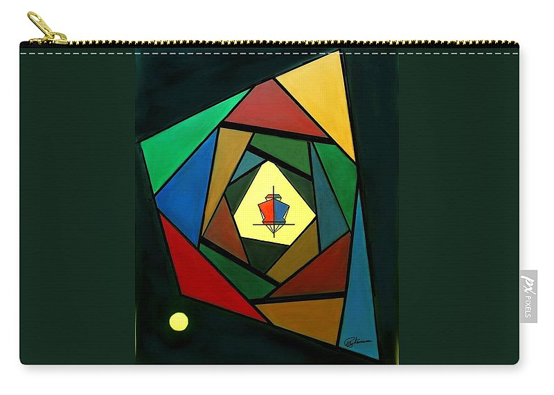 Surrealism Carry-all Pouch featuring the painting Eccentric by Elly Potamianos