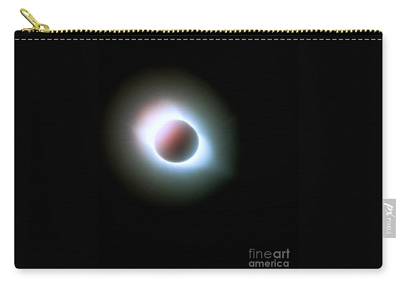 Sun Carry-all Pouch featuring the photograph Eclipse by Karen Francis